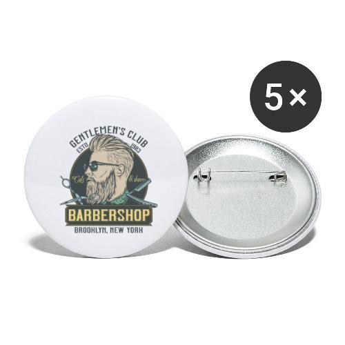 Classic barbershop font 5 - Confezione da 5 spille piccole (25 mm)