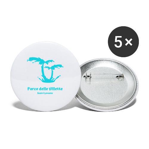 LOGO PARCO DELLE VILLETTE - Confezione da 5 spille piccole (25 mm)