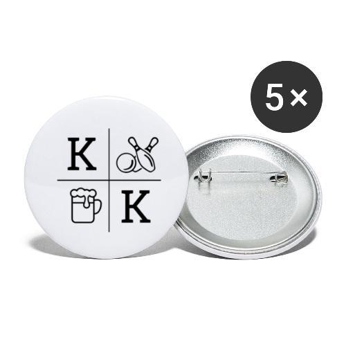 KCKT_LOGO_KLEINER - Buttons klein 25 mm (5er Pack)