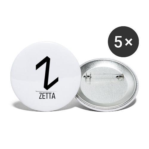 ZettaGamer - Paquete de 5 chapas pequeñas (25 mm)