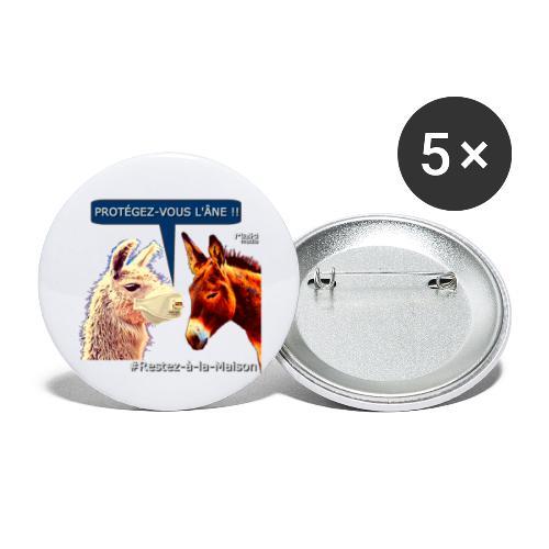 PROTEGEZ-VOUS L'ÂNE !! - Coronavirus - Buttons klein 25 mm (5er Pack)
