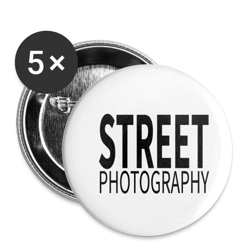 Street photography Black - Confezione da 5 spille piccole (25 mm)