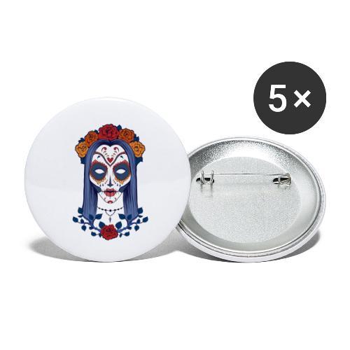 Skull 4 - Confezione da 5 spille piccole (25 mm)