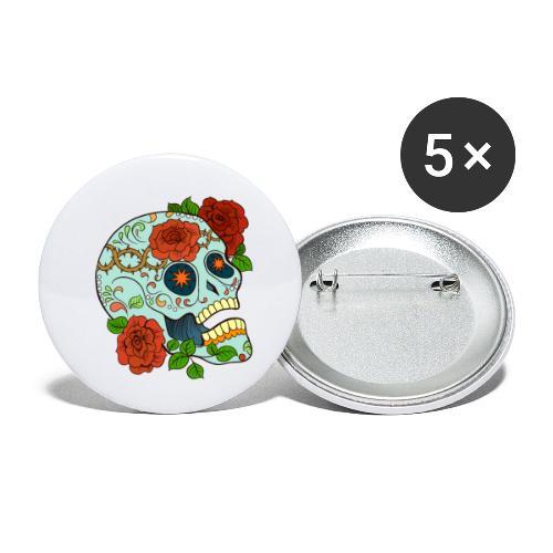 Mexican Skull 5 - Confezione da 5 spille piccole (25 mm)