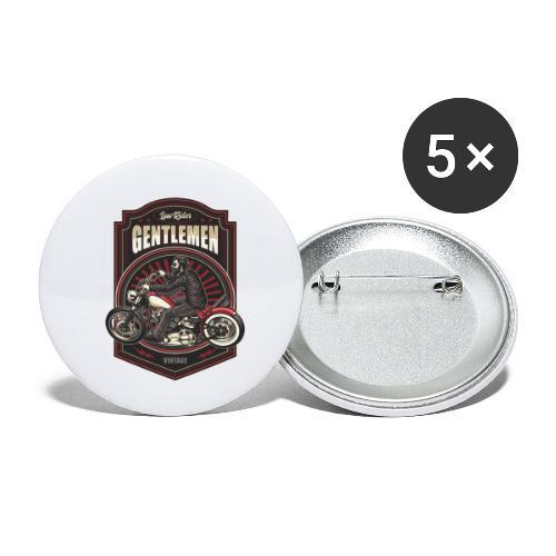 Gentlemen Biker Vintage - Confezione da 5 spille piccole (25 mm)