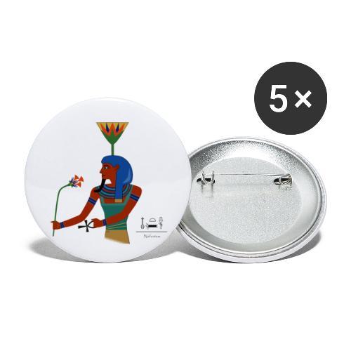 Nefertem I altägyptische Gottheit - Buttons klein 25 mm (5er Pack)