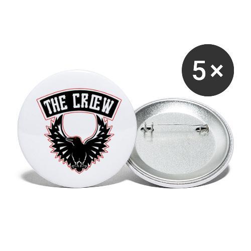 THE CRŒW SYL TEAM CROW - Lot de 5 petits badges (25 mm)
