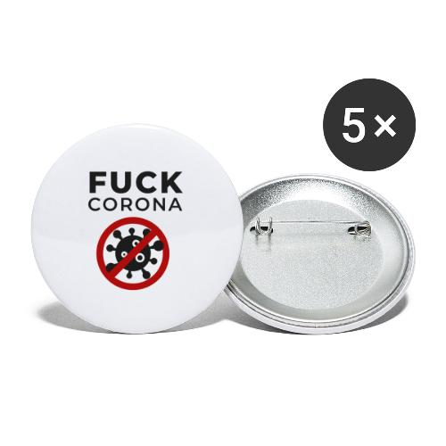 Fuck Corona (DR26) - Buttons klein 25 mm (5er Pack)