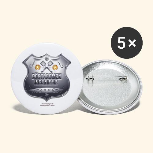 Grill T Shirt Design Röstaromeningenieur - Buttons klein 25 mm (5er Pack)