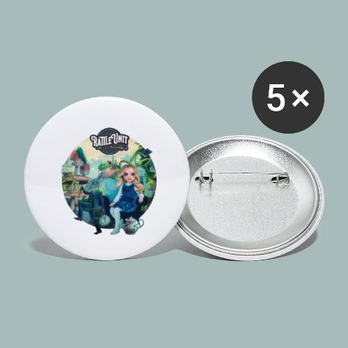 Letting Go Merch - Buttons klein 25 mm (5-pack)