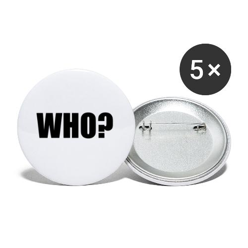 WHO sort - Buttons/Badges lille, 25 mm (5-pack)