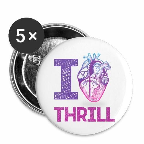 I love Thrill Logo - ParkTube - Buttons klein 25 mm (5er Pack)