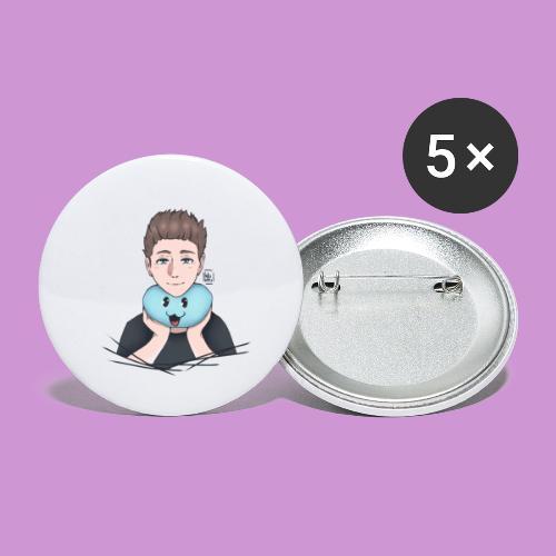 aweber804   schwarz - Buttons klein 25 mm (5er Pack)