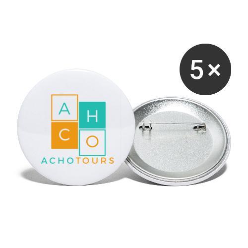 ACHOtours - Paquete de 5 chapas pequeñas (25 mm)