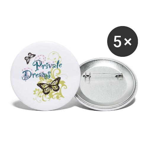 Free butterfly - Buttons small 1''/25 mm (5-pack)