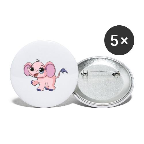 Cute elephant - Buttons small 1''/25 mm (5-pack)