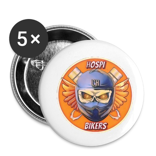 hospibikers neo - Paquete de 5 chapas pequeñas (25 mm)