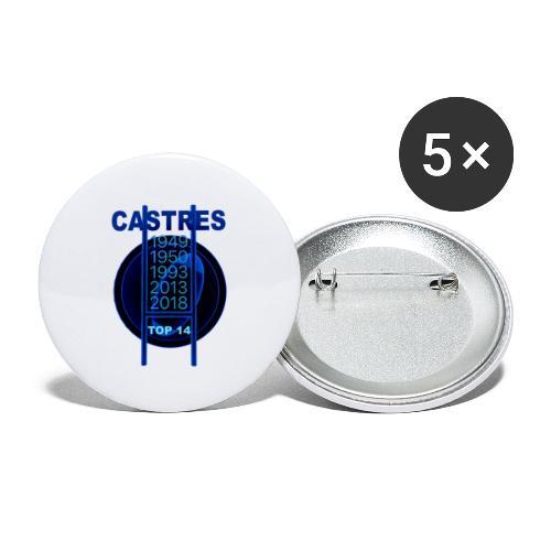 Rugby Castres - Lot de 5 petits badges (25 mm)