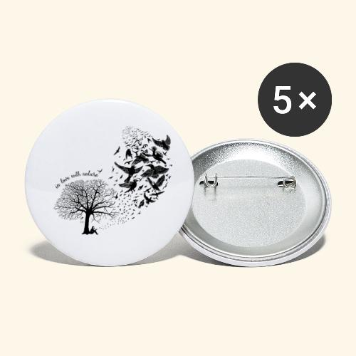 in love with nature - Resonanz - schwarz - Buttons klein 25 mm (5er Pack)