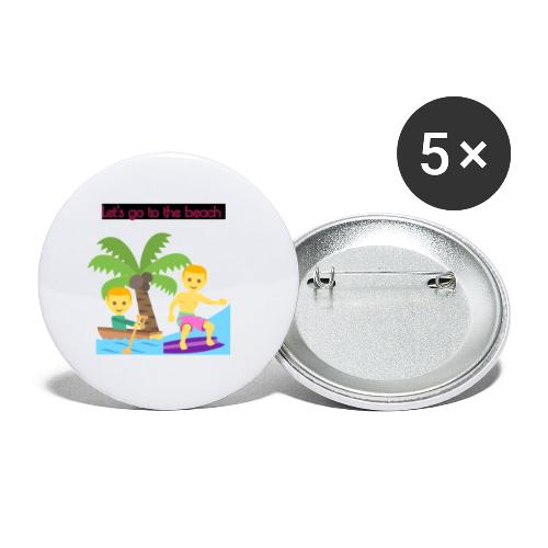 beach - Små knappar 25 mm (5-pack)
