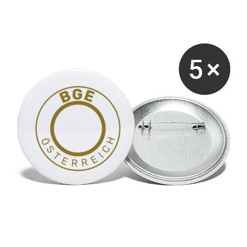BGE-Österreich - Buttons klein 25 mm (5er Pack)