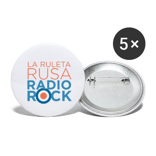 La Ruleta Rusa Radio Rock. Portrait Primary. - Paquete de 5 chapas pequeñas (25 mm)