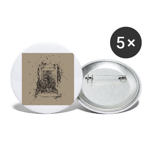 Shoppiful - Confezione da 5 spille piccole (25 mm)