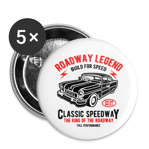 Roadway Legend Build for Speed - Buttons klein 25 mm (5-pack)