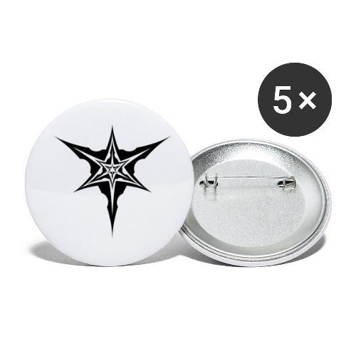 Psybreaks visuel 1 - black color - Lot de 5 petits badges (25 mm)