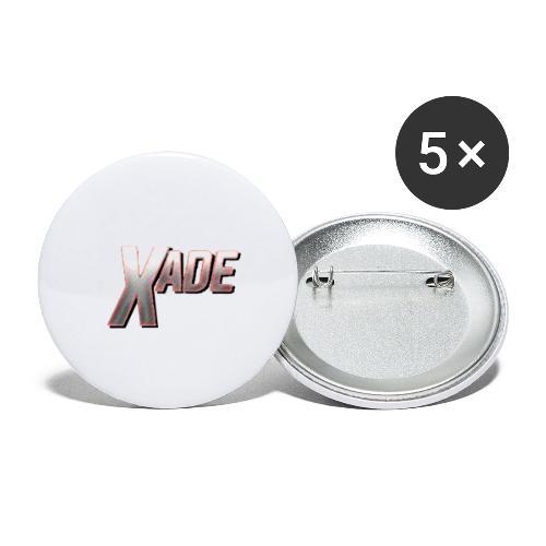 XaD3 LoGo - Buttons klein 25 mm (5er Pack)