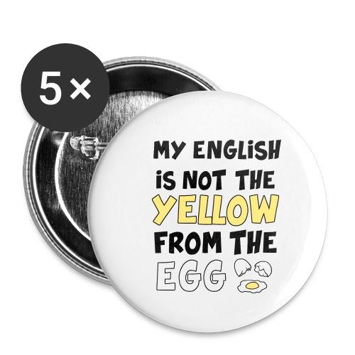 Schlechtes Englisch Witz Typografie - Buttons klein 25 mm (5er Pack)
