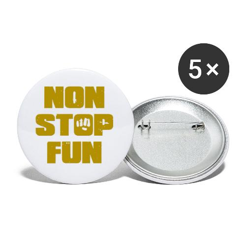 Non Stop Fun - Buttons klein 25 mm (5er Pack)