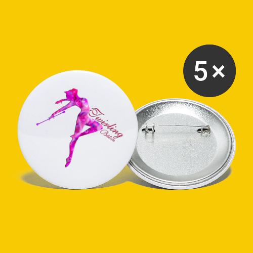 TWIRLING-BATON - Lot de 5 petits badges (25 mm)