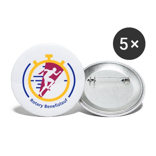 Rotary Benefizlauf Merchandise - Buttons klein 25 mm (5er Pack)