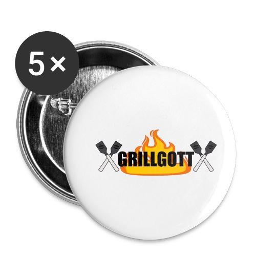 Grillgott Meister des Grillens - Buttons klein 25 mm (5er Pack)