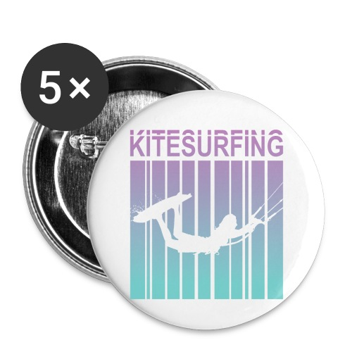 Kitesurfing - Buttons small 1''/25 mm (5-pack)