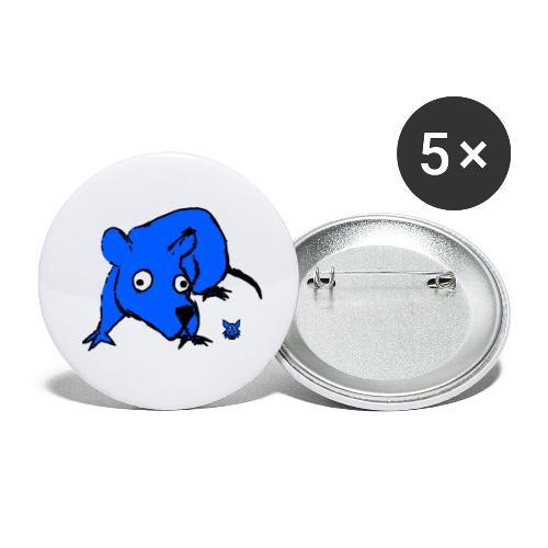 blue mouse - Confezione da 5 spille piccole (25 mm)