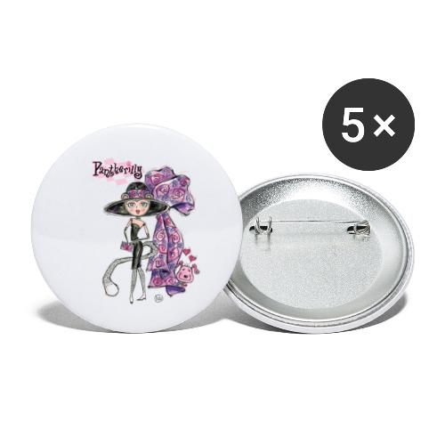 Pantherilly Tiffany - Confezione da 5 spille piccole (25 mm)