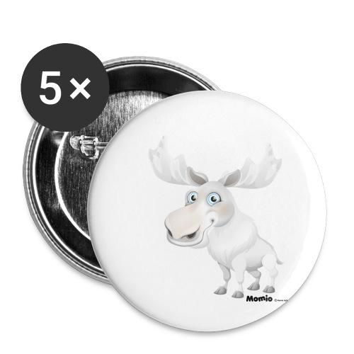 Albino Elch - Buttons klein 25 mm (5er Pack)