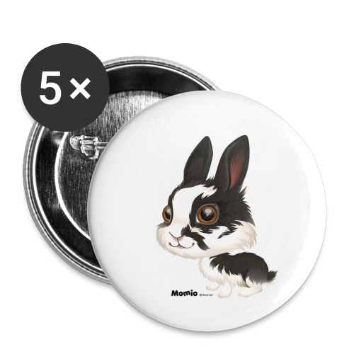Hase - Buttons klein 25 mm (5er Pack)
