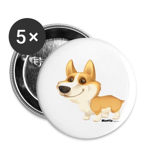 Corgi - Buttons klein 25 mm (5er Pack)