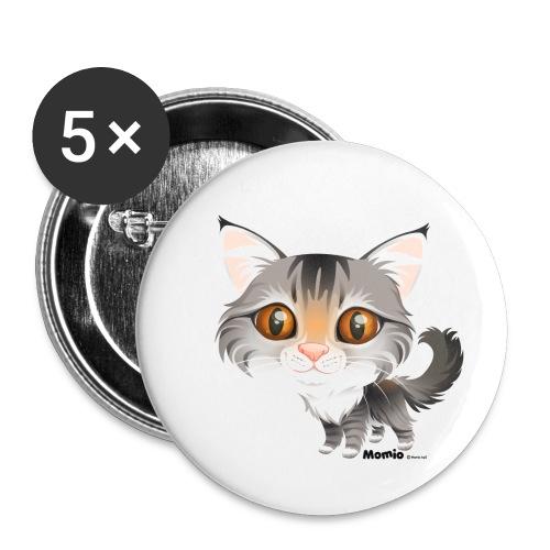 Katze - Buttons klein 25 mm (5er Pack)