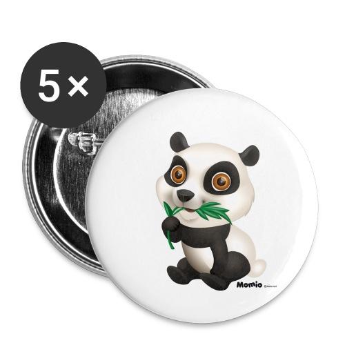 Panda - Buttons klein 25 mm (5er Pack)