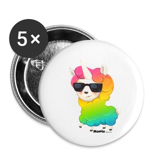 Regenbogenanimation - Buttons klein 25 mm (5er Pack)