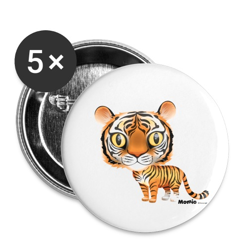 Tiger - Buttons klein 25 mm (5er Pack)