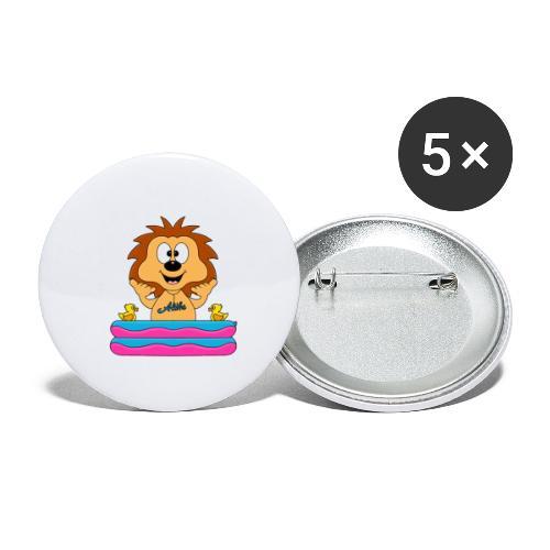Lustiger Igel - Planschbecken - Aloha - Tier - Fun - Buttons klein 25 mm (5er Pack)