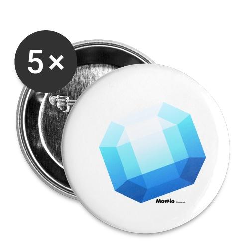 Saphir - Buttons klein 25 mm (5er Pack)