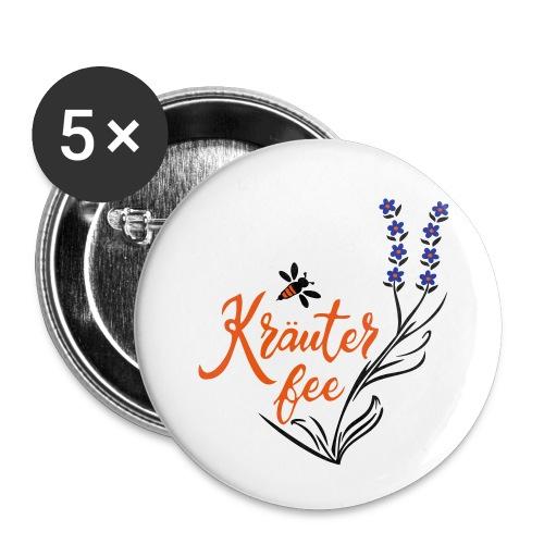 Kräuter Fee, Biene, Umwelt - Buttons klein 25 mm (5er Pack)