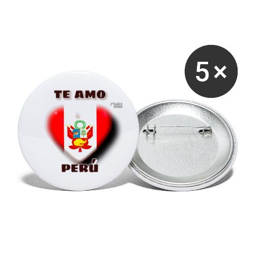 Te Amo Peru Corazon - Buttons small 1''/25 mm (5-pack)