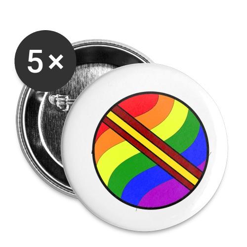 pelota lgtb-españa - Paquete de 5 chapas pequeñas (25 mm)